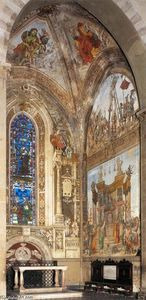 Filippino Lippi - View of the frescoes in the Strozzi Chapel