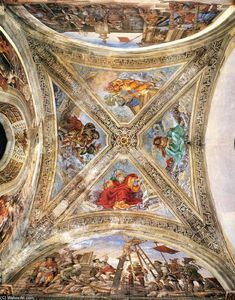 Filippino Lippi - View of the Vaulting in the Strozzi Chapel
