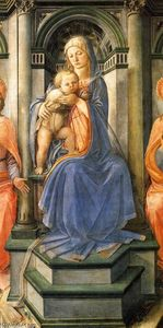 Fra Filippo Lippi - Madonna Enthroned with Saints (detail)
