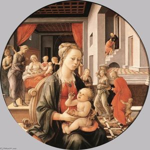 Fra Filippo Lippi - Madonna with the Child and Scenes from the Life of St Anne