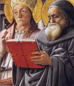 Fra Filippo Lippi - Sts Gregory and Jerome (detail)