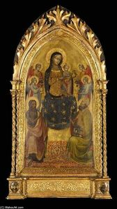 Lippo D'andrea Di Lippo - Madonna and Child Enthroned