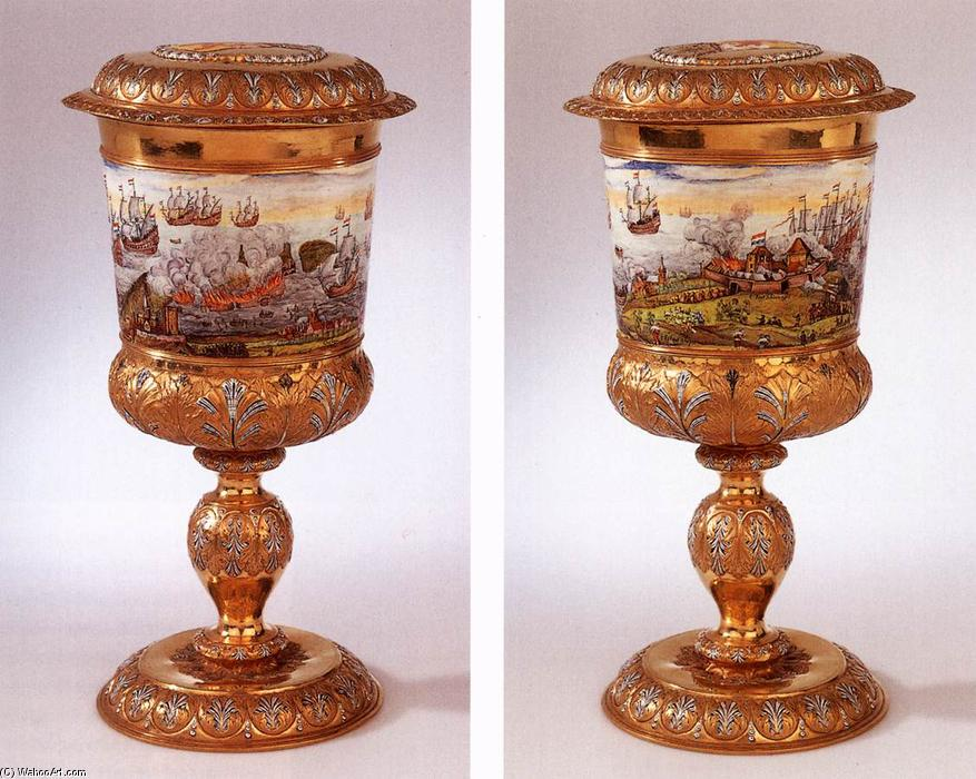 Covered goblet, 1667 by Nicolaas Loockemans | Art Reproduction | WahooArt.com