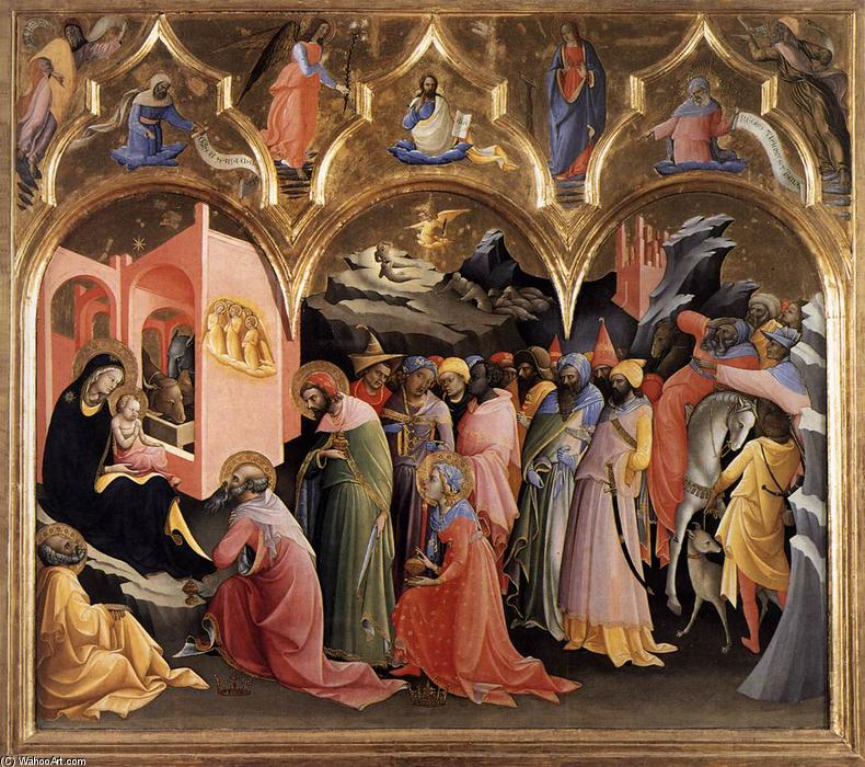 Adoration of the Magi, 1422 by Lorenzo Monaco (1370-1425, Italy) | Museum Quality Reproductions | WahooArt.com