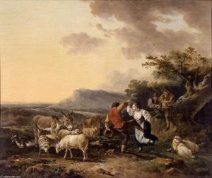Philip Jacques De Loutherbourg - Shepherd and Shepherdess Dancing