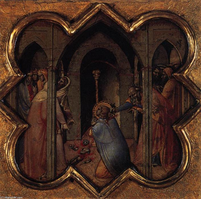 Scenes from the Life of St Thomas, 1362 by Luca Di Tommè (1330-1389, Italy) | Paintings Reproductions Luca Di Tommè | WahooArt.com