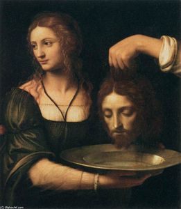Bernardino Luini - Salome Receiving the Head of St John the Baptist
