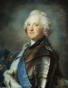Gustaf Lundberg - Portrait of Adolf Frederick, King of Sweden