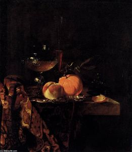 Willem Kalf - Still-Life with Glass Goblet and Fruit