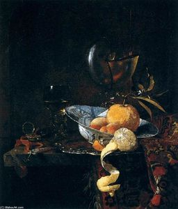 Willem Kalf - Still-Life with Porcelain and a Nautilus Cup