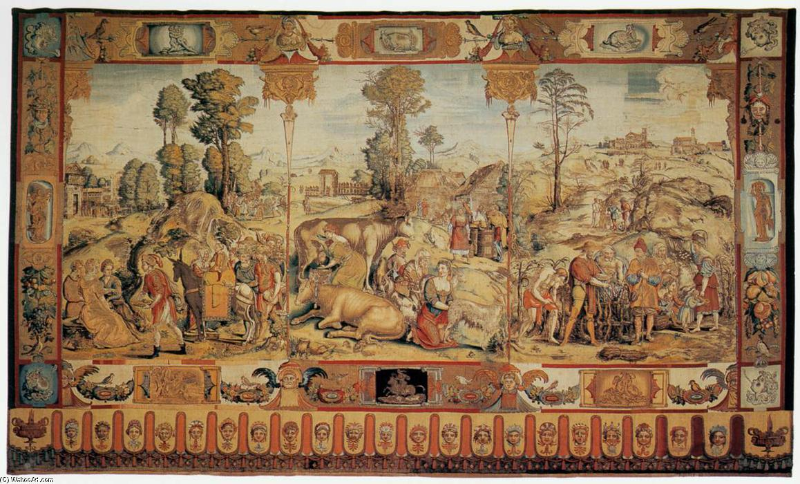 The Months of the Year: May, April, March, 1552 by Nicolas Karcher | Art Reproductions Nicolas Karcher | WahooArt.com