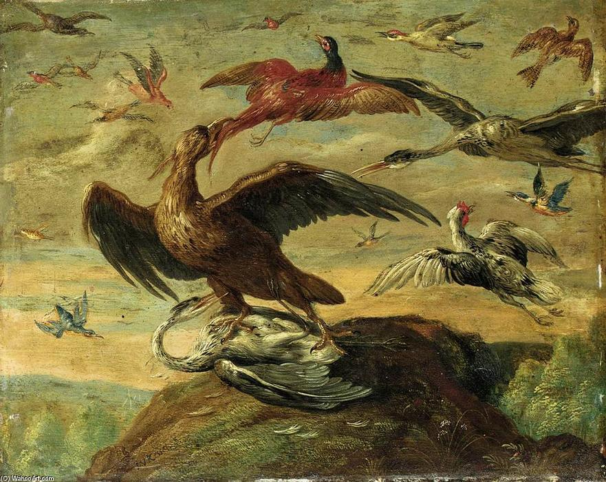 Order Paintings Reproductions | Birds by Jan Van Kessel (1641-1680, Belgium) | WahooArt.com