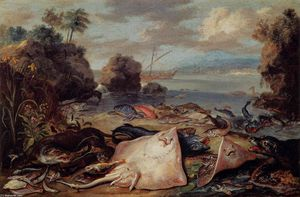 Jan Van Kessel - The Day's Catch