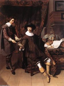 Thomas De Keyser - Constantijn Huygens and his Clerk