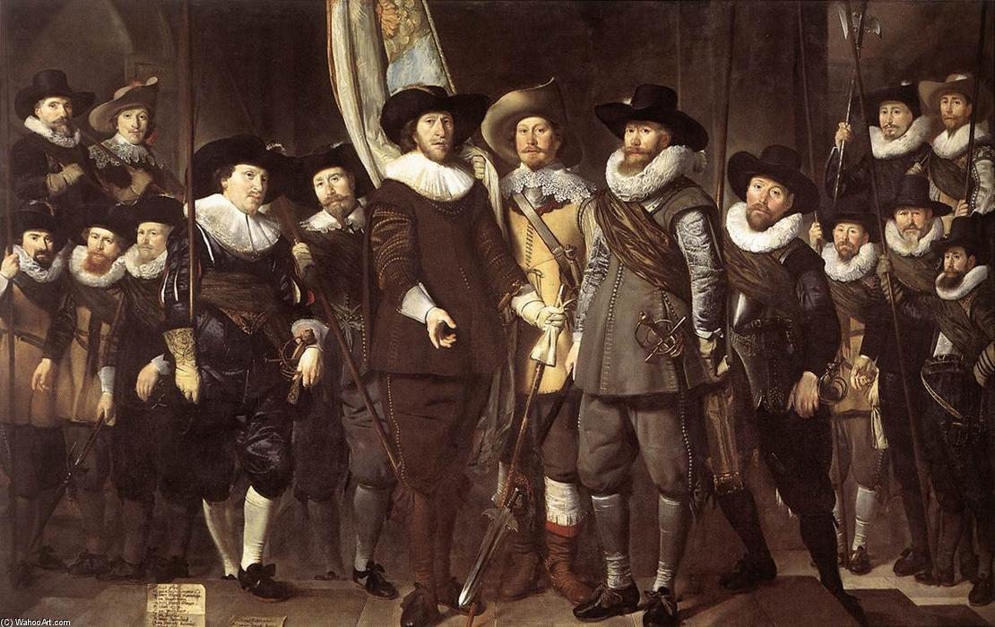 The Militia Company of Captain Allaert Cloeck, 1632 by Thomas De Keyser (1596-1667, Netherlands) | Museum Quality Copies Thomas De Keyser | WahooArt.com