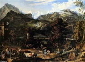 Joseph Anton Koch - The Upland near Bern