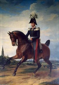 Franz Krüger - Equestrian Portrait of Frederick William III