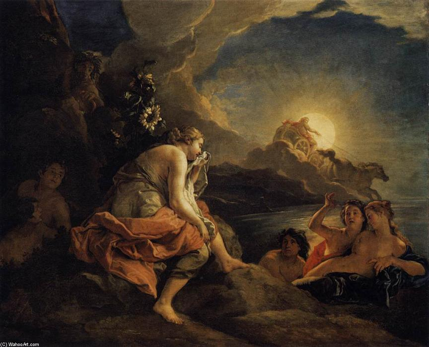 Clytie Transformed into a Sunflower, Oil On Canvas by Charles De La Fosse (1636-1716, France)