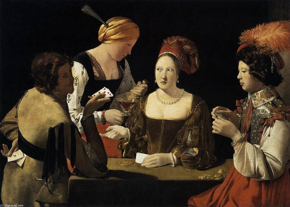 Cheater with the Ace of Diamonds, 1635 by Georges De La Tour (1593-1652, France) | WahooArt.com