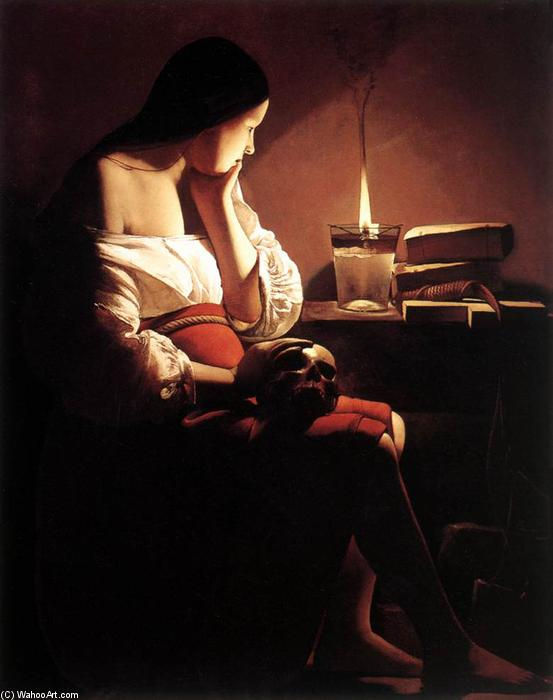 Magdalen with the Smoking Flame, Oil On Canvas by Georges De La Tour (1593-1652, France)