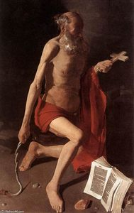 Order Famous Paintings Reproductions : St Jerome, 1630 by Georges De La Tour (1593-1652, France) | WahooArt.com