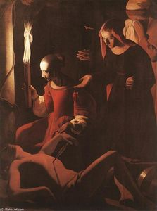 Georges De La Tour - St Sebastien Attended by St Irene