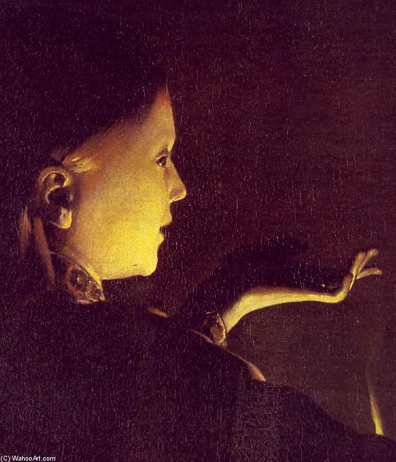 The Dream of St Joseph (detail), Oil On Canvas by Georges De La Tour (1593-1652, France)