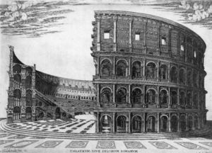 Antonio Lafreri - The Colosseum in Rome