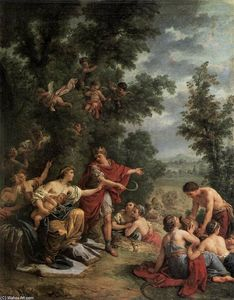 Louis Jean François Lagrenée - Ceres Teaching Agriculture to King Triptolemus