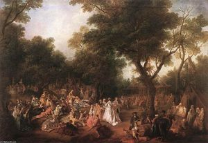 Nicolas Lancret - Fete in a Wood