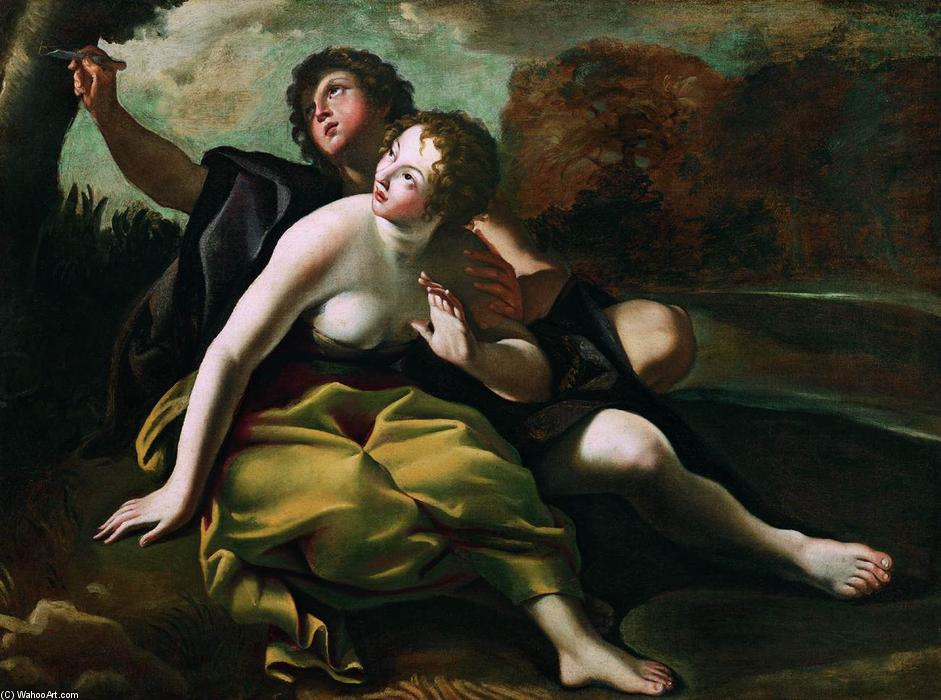 Order Reproductions | Angelica and Medoro by Giovanni Lanfranco (1582-1647, Italy) | WahooArt.com