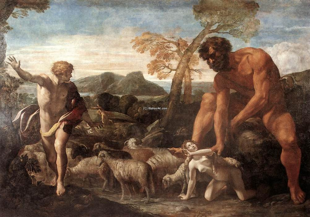 Order Reproductions | Norandino and Lucina Discovered by the Ogre, 1624 by Giovanni Lanfranco (1582-1647, Italy) | WahooArt.com