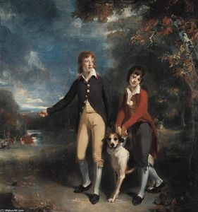 Thomas Lawrence - The Two Sons of the 1st Earl of Talbot