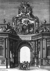 Jean Le Pautre - The Ceremonial Entry of Louis XIV and Marie-Thérèse into Paris in 1660
