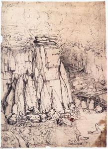 Leonardo Da Vinci - Cavern with ducks
