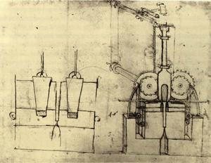 Leonardo Da Vinci - Device for Making Sequins