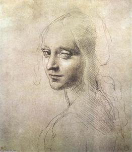 Leonardo Da Vinci - Head of a girl