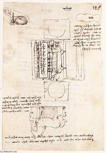 Leonardo Da Vinci - Manuscript page on the Sforza monument