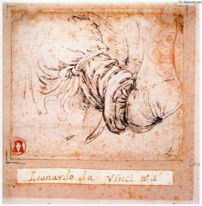 Leonardo Da Vinci - Sleeve study for the Annunciation