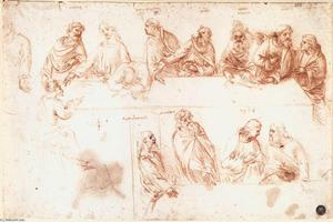 Leonardo Da Vinci - Study for the Last Supper