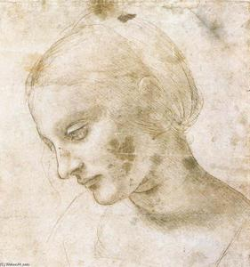 Leonardo Da Vinci - Study of a woman-s head