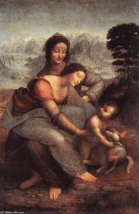 Leonardo Da Vinci - The Virgin and Child with St Anne