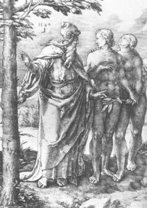 Lucas Van Leyden - Adam and Eve (Expulsion from the Paradise)