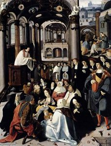 Lucas Van Leyden - Preaching in the Church