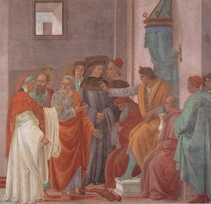Filippino Lippi - Disputation with Simon Magus and Crucifixion of Peter (right view)