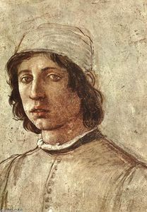 Filippino Lippi - Self-Portrait (detail)