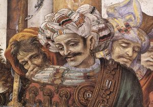 Filippino Lippi - St Philip Driving the Dragon from the Temple of Hieropolis (detail) (8)