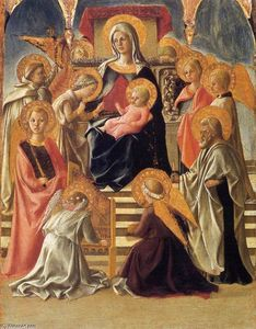Fra Filippo Lippi - Madonna and Child Enthroned with Saints