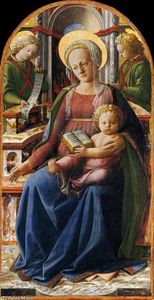 Fra Filippo Lippi - Madonna and Child Enthroned with Two Angels