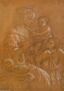 Fra Filippo Lippi - Madonna with Child and Two Angels
